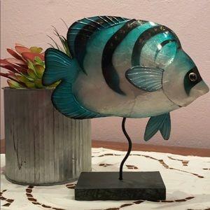NWT Decorative Fish on Wood Block